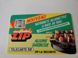 RARE: ZIP 1 ALLUME BARBECUE (USED CARD) ISSUE 1100 - Francia