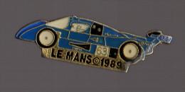 Pin's Le Mans 1989 (voiture Bleue - AEG - Signé EMC) - Automobile - F1
