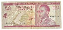 Congo 50 Makuta 1967 - Congo