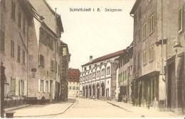 67 schlettstadt selestat I. E. salzgasse edit. W.S.S. str. couleur