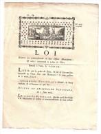 LOI De Juin 1791, Sur Le Remboursement Des Offices Municipaux, Illustrée D'un Port & Voilier, Le Puy, Haute Loire, TB - Decreti & Leggi
