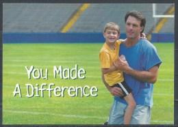 Used Postcard. Doug Flutie. Foundation For Autism - Health