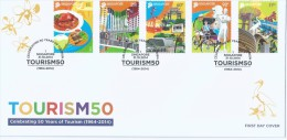 2014 Singapore Stamps First Day Cover FDC - CELEBRATING 50 YEARS OF TOURISM 1964-2014  (A-0126) - Singapur (1959-...)