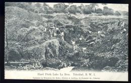 Cpa Des Antilles Trinidad B.W.I. Hard Pitch Lake La Brea.     AO49 - Trinidad