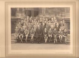 Photo De Classe Lycée Condorcet Paris 9 è Rue Du Havre 5 è A 1936 Collée Sur Carton Pierre Petit Phot  Rue Lafayette - Photographs