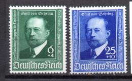 Deutschland, 1940, 50 Jahre Diphterie Serum, Postfrisch, MiNr.760-761  (15318E) - Medizin
