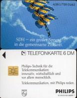 Philips Ballon-Fahrt TK O 470 D/1993 ** 45€ Telefonkarten Kommuniktion Werbung Für Flug-Sport Art Tele-card Of Germany - O-Series : Customers Sets