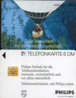 Philips Ballon-Fahrt TK O 470 A/1993 ** 45€ Telefonkarten Kommuniktion Werbung Für Flug-Technik Art Tele-card Of Germany - O-Series : Series Clientes Excluidos Servicio De Colección