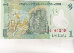 Romania 1 Leu 2005 ( 2013 )  , Uncirculated , Polymer - Rumania