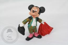 Vintage Disney Mickey Bullfighter Bullyland Hand Painted PVC Figure - Germany - Disney