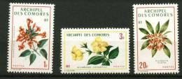 Comores ** N° 69 à 71 - Fleurs - Comores (1950-1975)