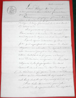 Vieux Papiers - Drôme 1836 Acte De Cautionnement établi à Grignan - Notaire Me Bedoin - Cachet Timbre Royal - Manuscrits