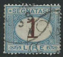 Italia 1870/4 Usato - Segnatasse £ 1 Normale Centratura - 1900-44 Vittorio Emanuele III