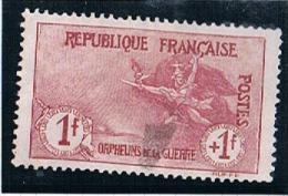 FRANCE  Orphelins De Guerre N° 154 (*) - France