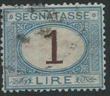 Italia 1870/4 Usato - Segnatasse £ 1 Ben Centrato - 1900-44 Vittorio Emanuele III