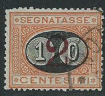 Italia 1890/1 Usato - Segnatasse 10c Su 2c VEDI SCAN Denti - 1900-44 Vittorio Emanuele III