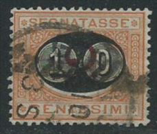 Italia 1890/1 Usato - Segnatasse 10c Su 2c - 1900-44 Vittorio Emanuele III