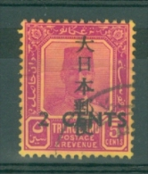 Malaya - Japanese Occupation: 1943   Sultan - Trengganu - Surcharge OVPT  SG J135  2c On 5c    Used - Occupazione Giapponese