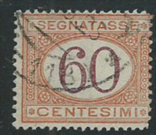 Italia 1890/4 Usato - Segnatasse 60c VEDI SCAN - 1900-44 Vittorio Emanuele III