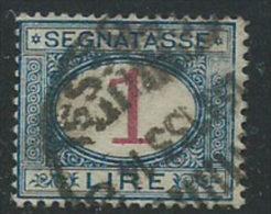 Italia 1890/4 Usato - Segnatasse £ 1 VEDI SCAN - 1900-44 Vittorio Emanuele III