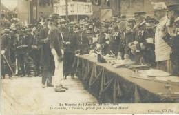 LA  MARCHE De L´ ARMEE En 1904  - Le Contôle , Présidé Par Le Général  MARCOT - Militares