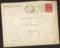 Lettre Ambassade De Pologne 1931 Timbre + Flamme Expo Paris - Cachets Généralité