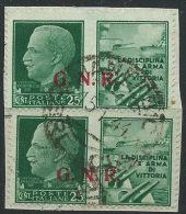 Italia 1944 GNR Usato - Propaganda Di Guerra 25c Su Frammento; Annullo 15-1-44 - 4. 1944-45 Repubblica Sociale