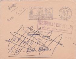 """1956 Lettre FM > Soldat Algérie GRIFFE  """"RETOUR A L'ENVOYEUR N'A PU ÊTRE ATTEINT"""" CORRESPONDANCE - Guerra De Argelia"""