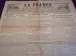 WW1 Le 14 Octobre 1914 - LASSIGNY - LENS - ARRAS - REIMS - INDUSTRIE CHIMIQUE - LA FRANCE DE BORDEAUX ET DU SUD OUEST - Revues & Journaux