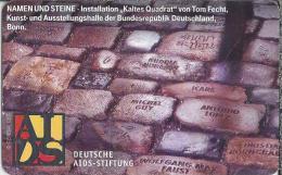 DE.- Telefonkarte 12 DM. Deutsche Aids-Stiftung. SPENDENKONTO 4004. Namen Und Steine. Kaltes Quadrat Von Tom Fecht. - Duitsland