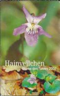 DE.- Telefonkarte. 5 Euro. Hainveilchen. Blume Des Jahres 2002. - Bloemen