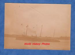 Photo ancienne avant 1900 - Beau Torpilleur le SAINTE BARBE - Navire de Guerre - bateau de la Marine Nationale