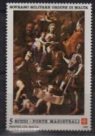 PIA - SMOM- 1988 :Natale  Dipinto Di Mattia Preti -Santa Rosalia Incoronata Dalla Vergine Di Costantinopoli -(UN 293-94) - Malte (Ordre De)