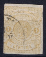 Luxembourg: 1859 Yv Nr 3 Used, Signed/ Signé/signiert/ Approvato  Has A Fold