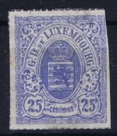 Luxembourg: 1865 Yv Nr 20 Not Used (*)