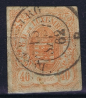 Luxembourg: 1859 Yv Nr 11 Used Signed/ Signé/signiert/ Approvato
