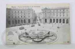 Old Postcard Italy - Rome/ Roma - Piazza Dell'Esedra E Via Nazionale - Old Trams - Uncirculated - Trasporti