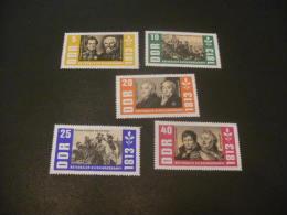 K9728- Set MNH  DDR 1963-  SC. 668-672- -150th. Anniv. Of War Of Liberation- Nationaler Befreiungskampf - DDR