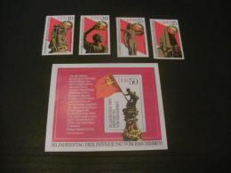 E1221b- Bloc- Set MNH DDR- 1975- SC. 1639-1643-  30th. Anniv. Of Liberation Of Facism - DDR