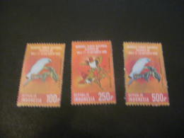 K7888- Set  MNH -Indonesia 1982- SC. 1180-1181A-  Balinese Starling And King Birds Of Paradise - Altri