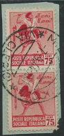 Italia 1944 RSI Usato - 75 Coppia Su Frammento - 4. 1944-45 Repubblica Sociale