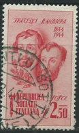 Italia 1944 RSI Usato - Fratelli Bandiera £ 2,50 - 4. 1944-45 Repubblica Sociale