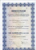 Immocinam - Antwerpen - Actions & Titres