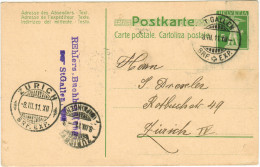 SVIZZERA - SUISSE - HELVETIA - 1911 - 5 Rappen + 2 Special Cancel - Carte Postale - Postal Card - Intero Postale - En... - Ganzsachen