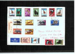 Katanga - Registred Letter With Full Set Animals - 6/17 - Elisabethville - 11/10/1960 - Katanga