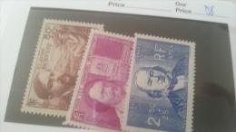 LOT 232247 TIMBRE DE FRANCE NEUF** N�462 A 464 VALEUR 37,5 EUROS