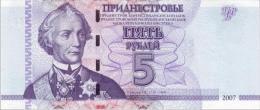 MOLDOVA, TRANSDNIESTRIA 5 Ruble  2007  P-43 **UNC** - Moldova