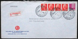 Denmark Registered  Letter 1976 Postkontoret KBHVN.S.FRIHAVN Cover Vilhelm Albertsen&co Epeditionsfirma ( Lot 4218) - Brieven En Documenten