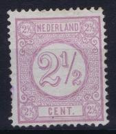 Netherlands: 1876 NVPH Nr  33 F  MH/*  Perfo 12,50 Light Lila - Ongebruikt
