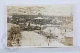 Old & Rare Real Photo Postcard - Bolivia - Oruro - Plaza 10 De Febrero Nevada/ 10 February Snowed Town Square - Bolivia